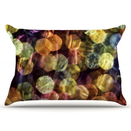 KESS InHouse Warm Sparkle Pillowcase