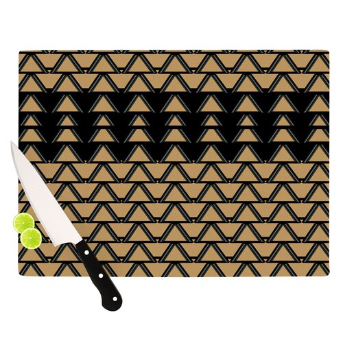 Deco Angles Gold Black Cutting Board