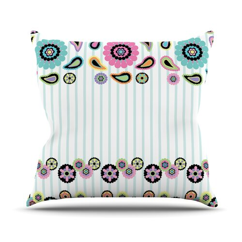 Paisley Party Throw Pillow