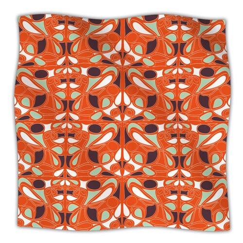 Orange Swirl Kiss Microfiber Fleece Throw Blanket