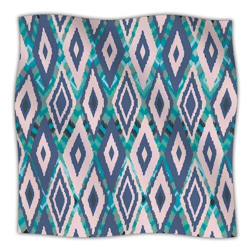 Tribal Ikat Fleece Throw Blanket