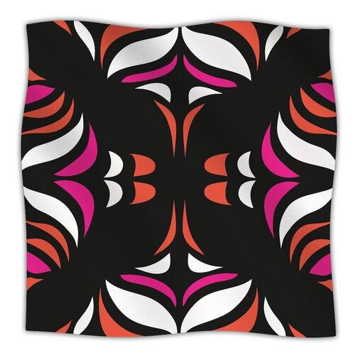 Magenta Orange Hawaiian Retro Microfiber Fleece Throw Blanket