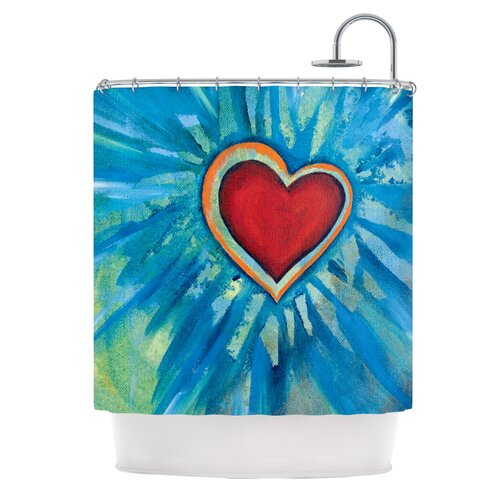 Love Shines On Polyester Shower Curtain