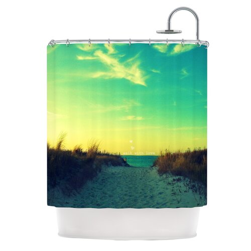 Walk With Love Polyester Shower Curtain