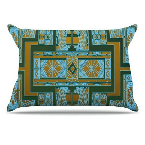 KESS InHouse Golden Art Deco Pillowcase