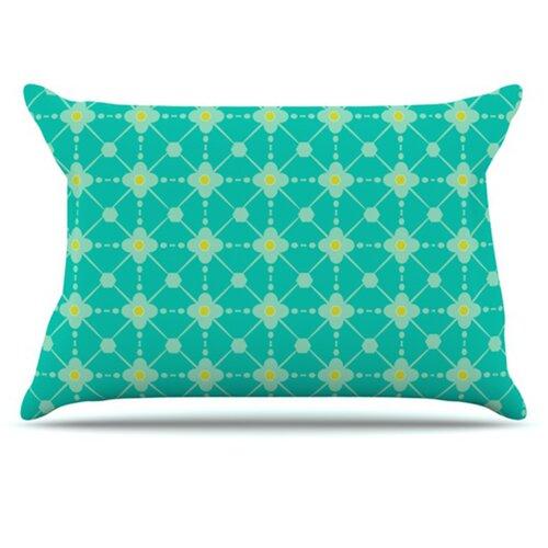 KESS InHouse Hive Blooms Pillowcase