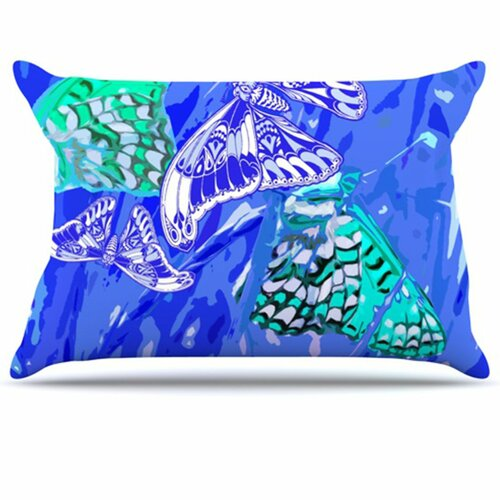 KESS InHouse Butterflies Party Fleece Pillow Case