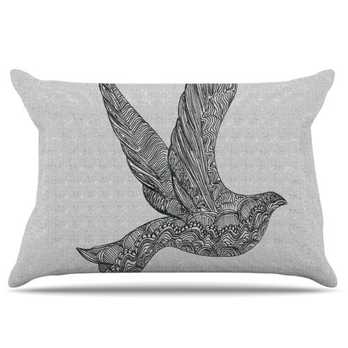 KESS InHouse Dove Pillowcase