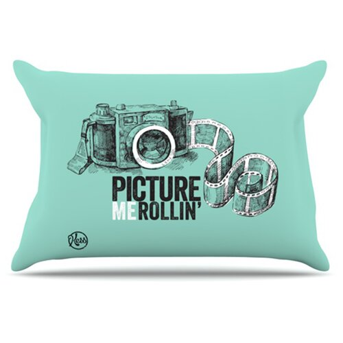 KESS InHouse Picture Me Rollin Pillowcase