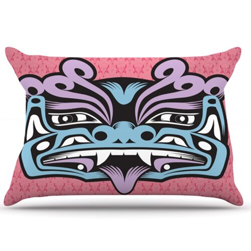 KESS InHouse Fu Dog Pillowcase