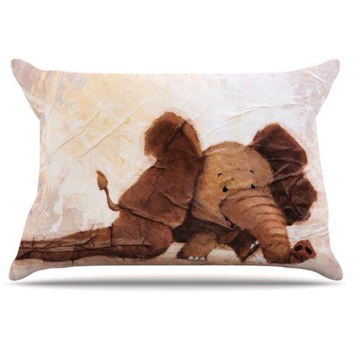 KESS InHouse The Elephant with the Long Ears Pillowcase