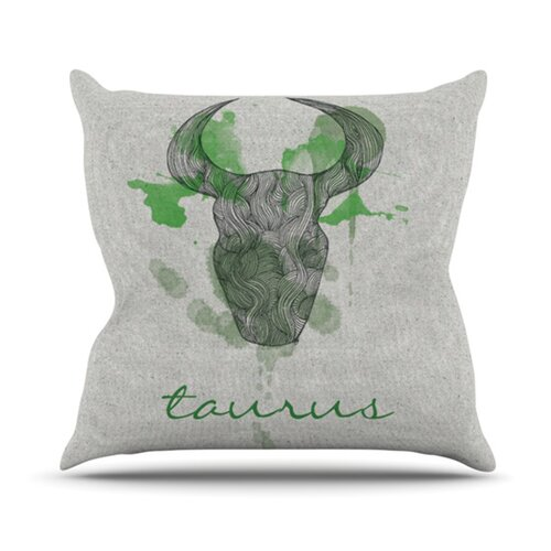 KESS InHouse Taurus Throw Pillow