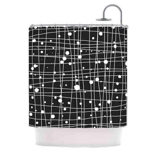 Woven Web Mono Polyester Shower Curtain
