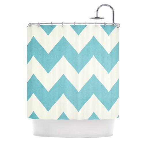 KESS InHouse Salt Water Cure Polyester Shower Curtain