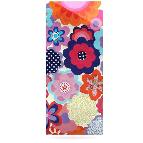 Patchwork Flowers by Louise Machado Graphic Art Plaque