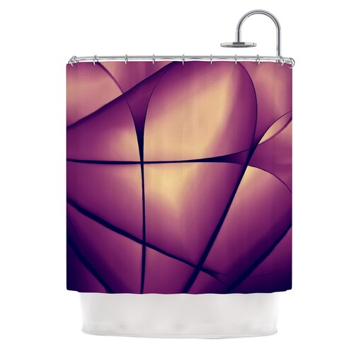 Paper Heart Polyester Shower Curtain