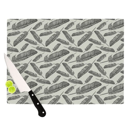 KESS InHouse Feather Scene Cutting Board