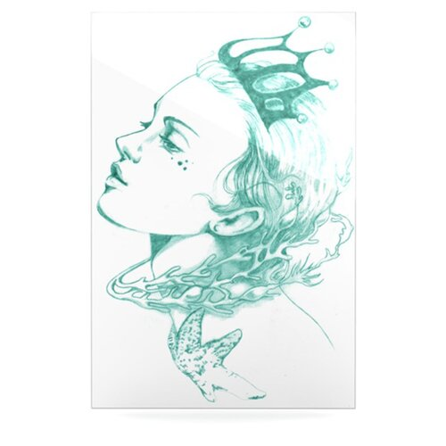 KESS InHouse Queen of the Sea by Lydia Martin Graphic Art Plaque