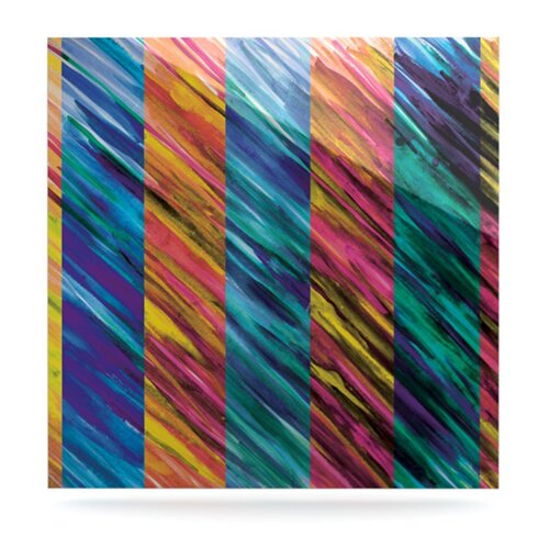 Set Stripes I by Theresa Giolzetti Graphic Art Plaque