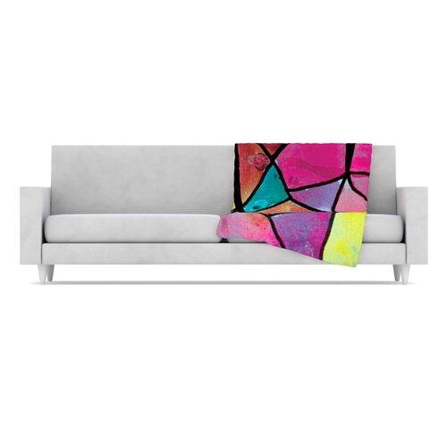 KESS InHouse Stain Glass 3 Fleece Throw Blanket