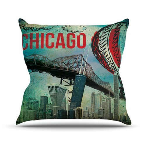 KESS InHouse Chicago Throw Pillow