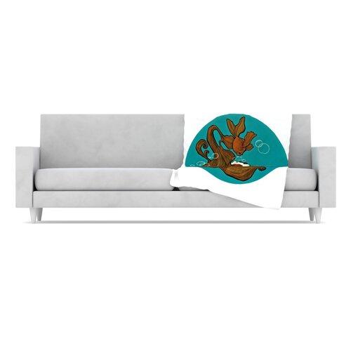 KESS InHouse Goldfish Microfiber Fleece Throw Blanket