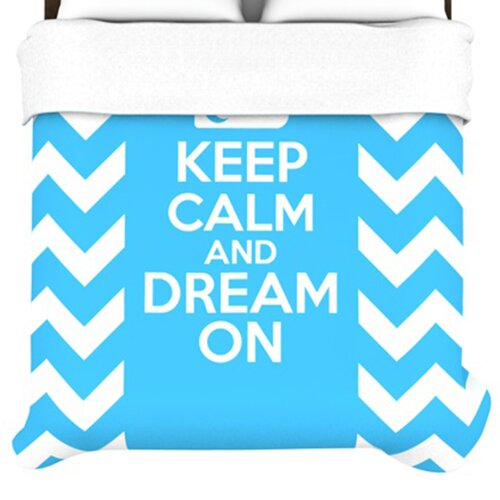 KESS InHouse Keep Calm Duvet Cover