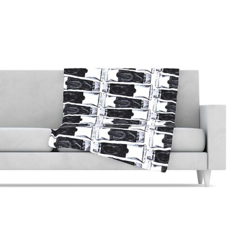 Paint Tubes Fleece Throw Blanket
