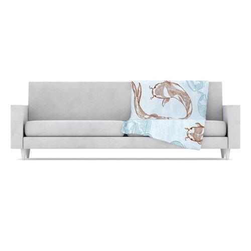 KESS InHouse Koi Fleece Throw Blanket