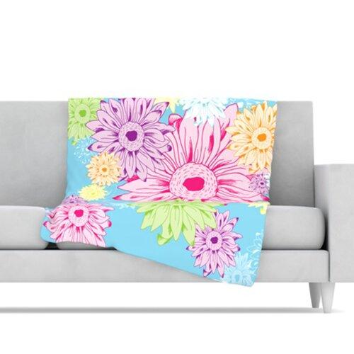 KESS InHouse Summer Time Fleece Throw Blanket