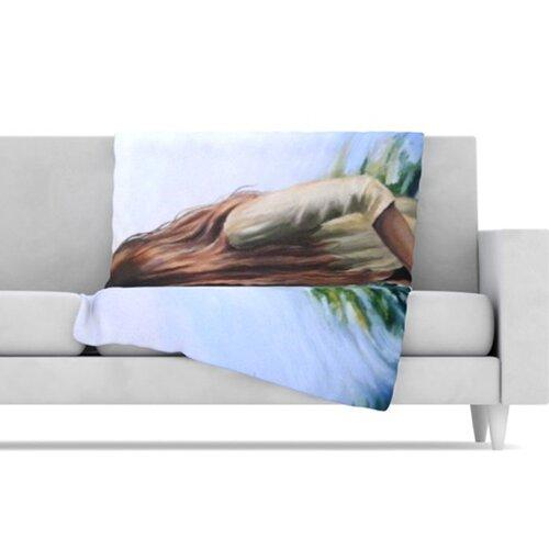 KESS InHouse Knee Deep Fleece Throw Blanket