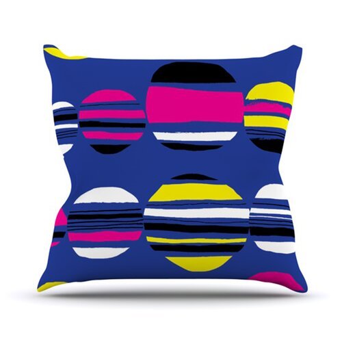 Retro Circles Throw Pillow