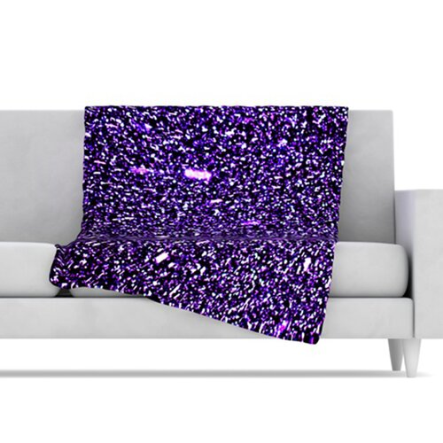KESS InHouse Purple Dots Fleece Throw Blanket