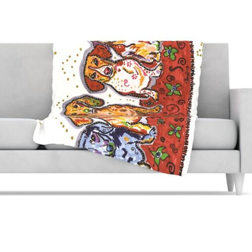 Maksim Murray Enzo Ruby & Willy Fleece Throw Blanket