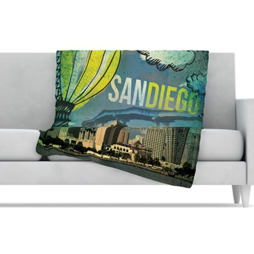 San Diego Microfiber Fleece Throw Blanket