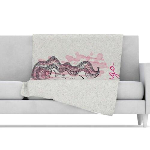 KESS InHouse Virgo Microfiber Fleece Throw Blanket