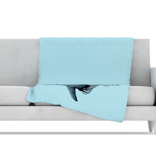 KESS InHouse Shark Record II Microfiber Fleece Throw Blanket