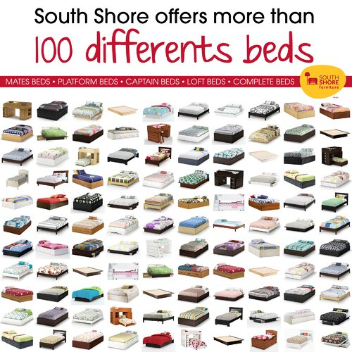 South Shore Jumper Twin Mate's Bed Box with Storage