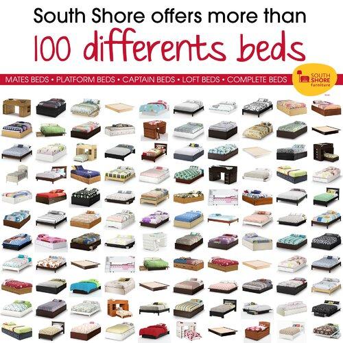 South Shore Summer Breeze White Wash Mates Bed Box