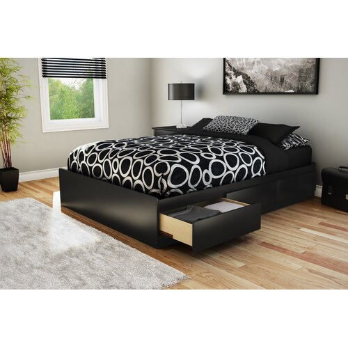 South Shore Full Size Storage Platform Bed