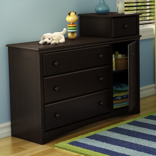 South Shore Angel 4 Drawer Combo Dresser