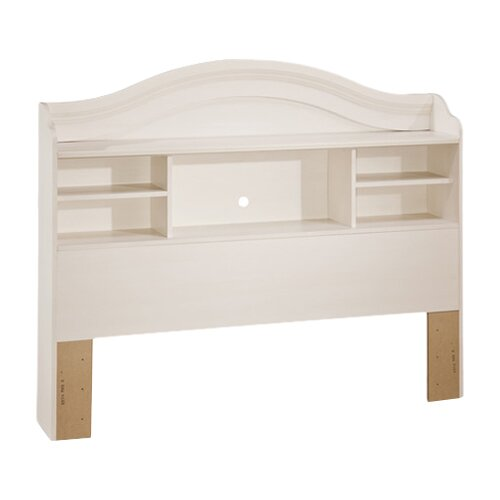 South Shore Summer Breeze White Wash Bookcase Headboard