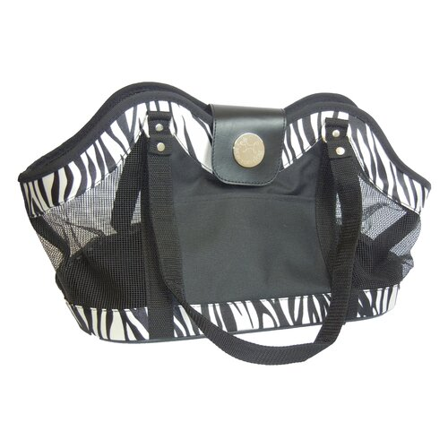Zebra Zippered Tote Pet Carrier