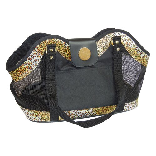 Leopard Open Tote Pet Carrier