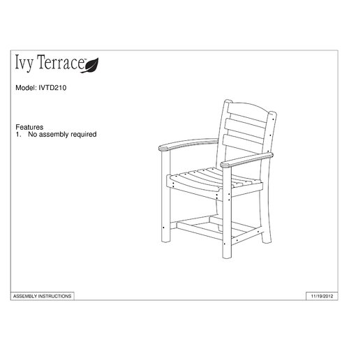 Ivy Terrace Ivy Terrace 7 Piece Dining Set