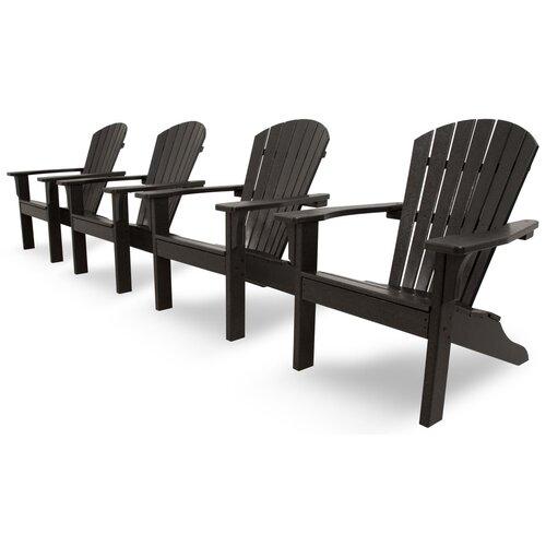 Ivy Terrace Classics 4 Piece Adirondack Seating Group