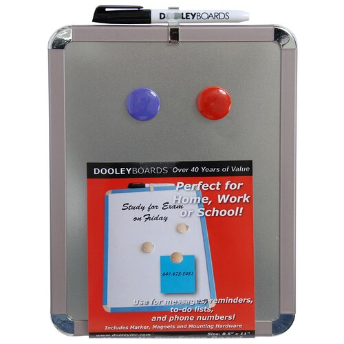 "Dooley Boards Inc Magnet 11"" x 8.5"" Whiteboard"