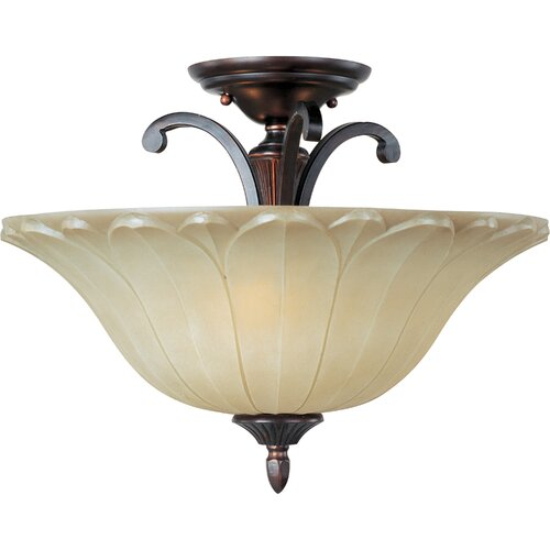 Wildon Home ® Schubert 3 - Light Semi - Flush Mount