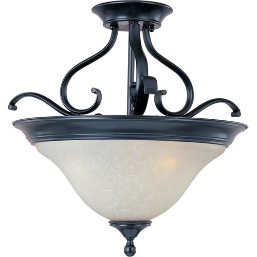 Wildon Home ® Rytmo 3 - Light Semi - Flush Mount