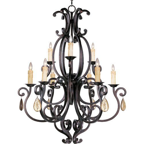 Wildon Home ® Hailee 9 - Light Multi - Tier Chandelier